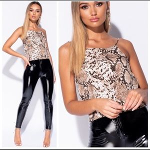 Only 1 left Snake print Cami tank